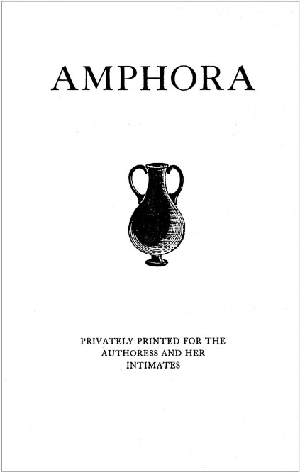 Title page of the Privately Printed Amphora