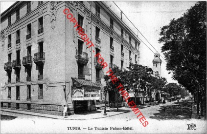 Tunisia Palace Hotel, Tunis, early 1920s.