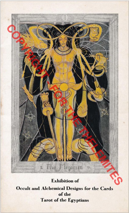 Front wrapper of Exhibition of Playing Cards The Tarot (Book of Thoth) 78 Paintings According to the Initiated Tradition and Modern Scientific Thought with Other Occult and Alchemical Design (1941 E.V.)