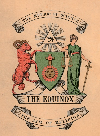 The Method of Science - The Aim of Religion, Cover of The Equinox