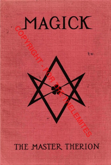 Front wrapper, Magick in Theory and Practice, Vol. 1, 1930 E.V.