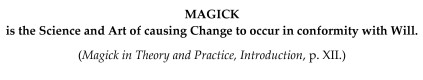 MAGICK - Definition