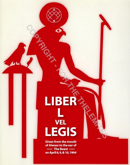 Front page to Liber L vel Legis by Perdurabo ST